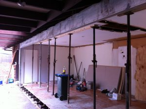 Residential Structural steel installation