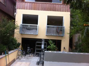 Steel handrails for balcony