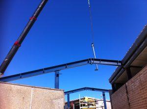 Industrial steel roof beams