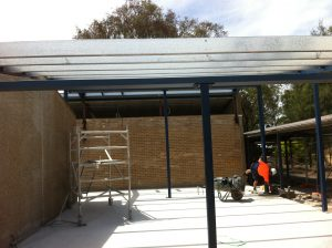 Steel roof beams