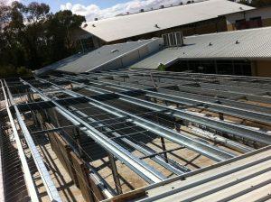 Steel roof beams