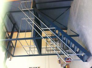 Workshop factory unit mezzanine