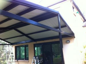 House outdoor awning