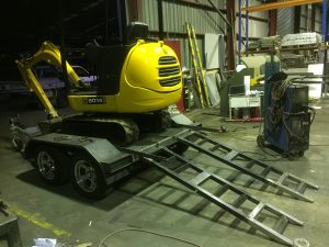 Excavator Trailer fabrication and repairs