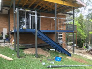Steel Decking and stairs in the Blue Mountains