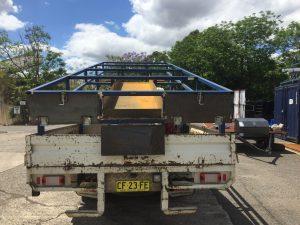 Concrete truck steel frame fabrication