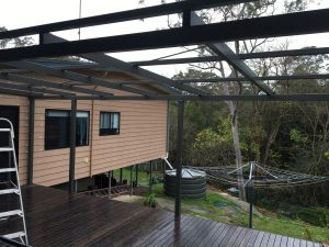 Steel Awning Blue Mountains