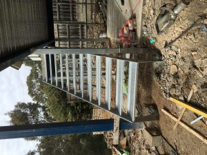 Checker plate steel Stairs Fabrication
