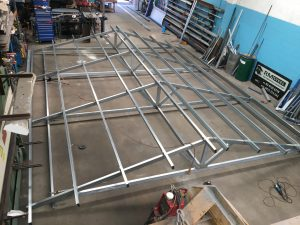 Steel Awning Roof Frame