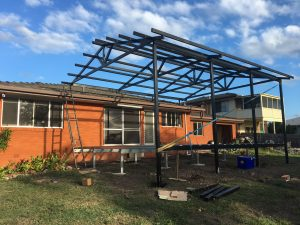 Steel House Extensions Frame