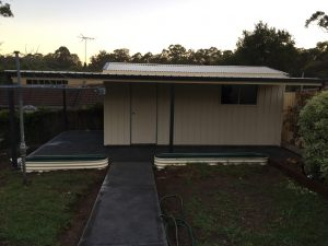 Shed Awning installation Blue Mountains