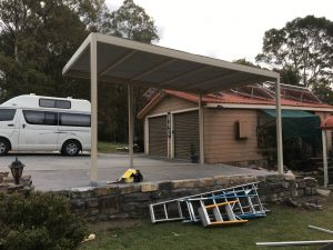Car Port installation in the Blue Mountains